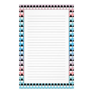 Tribal Aztec Ombre Pattern Stationery