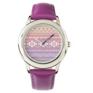 Tribal aztec ombre pattern watch
