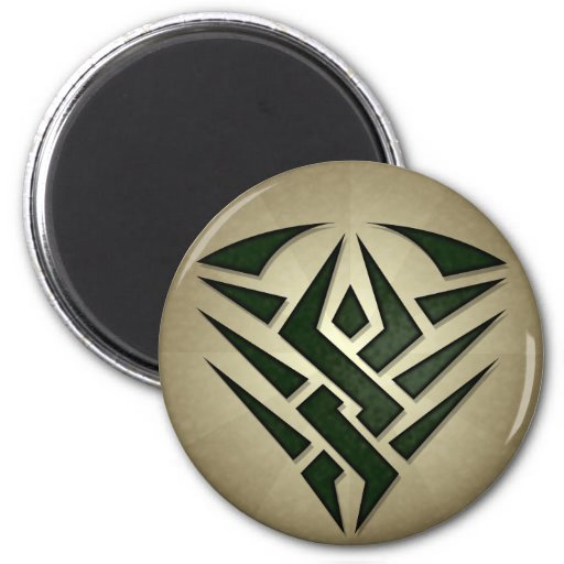 Tribal Badge Round Magnet