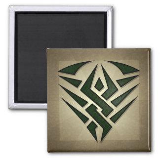 Tribal Badge Square Magnet