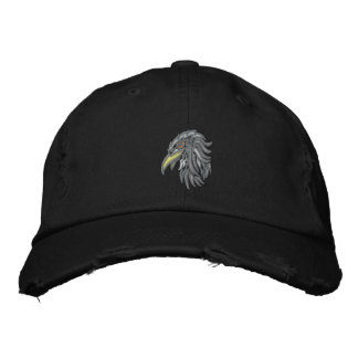 tribal bald eagle baseball cap