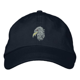 tribal bald eagle embroidered baseball cap