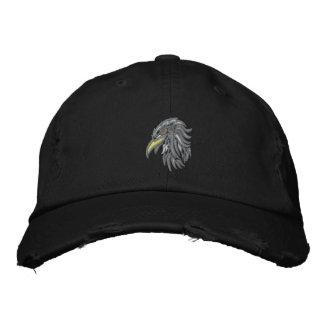 tribal bald eagle embroidered hat