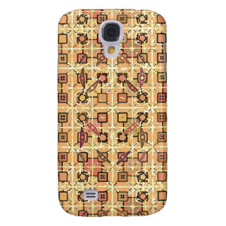 Tribal Batik - chocolate brown and camel tan Samsung Galaxy S4 Case