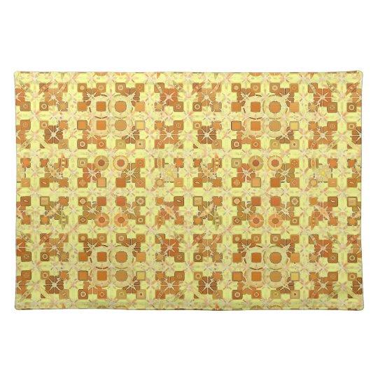 Tribal Batik - golden yellow, brown and tan