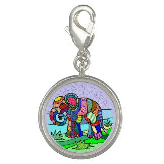 Tribal batik hippie colorful elephant painting