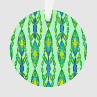 Tribal Batik - Mint, Emerald Green and Blue