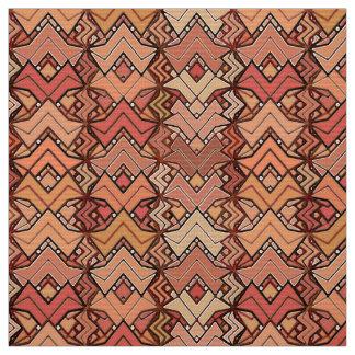 Tribal Batik Print, Brown, Rust and Earth Tones Fabric