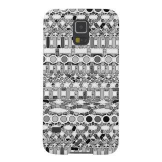 Tribal Batik - shades of grey / gray Galaxy S5 Cover