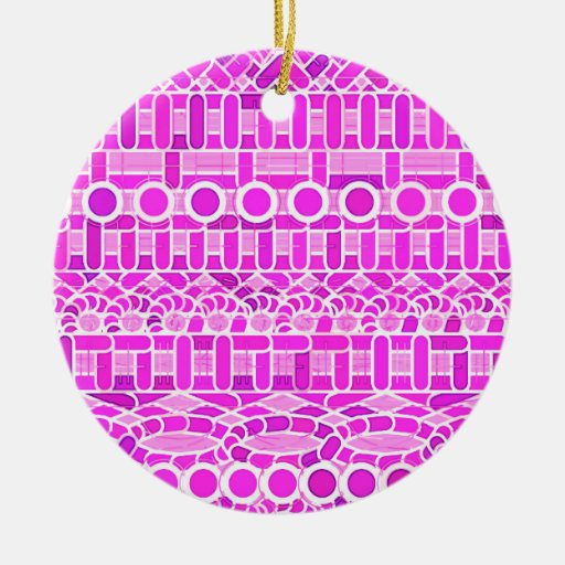 Tribal Batik - shades of orchid and violet Ornaments