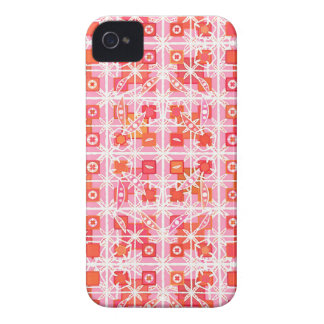 Tribal Batik - strawberry pink and red Case-Mate iPhone 4 Case