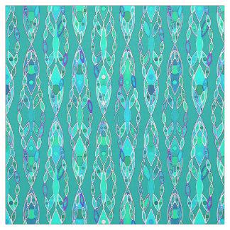 Tribal Batik - Turquoise and Aquamarine Fabric