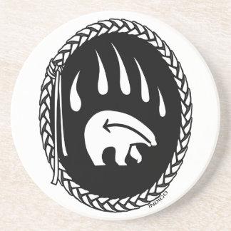 Tribal Bear Art Gifts Native Art Wildlife Coasters
