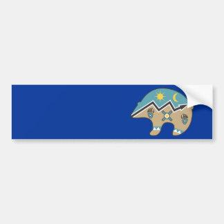 Tribal  Bear Design Bumper Sticker