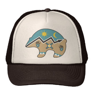 Tribal  Bear Design Cap