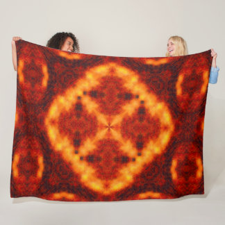 Tribal Bear Fire Spirit Plush Mandala Medicine Fleece Blanket
