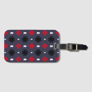 Tribal Bear Luggage Tag