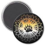 Tribal Bear Pride Paw 7.5 Cm Round Magnet