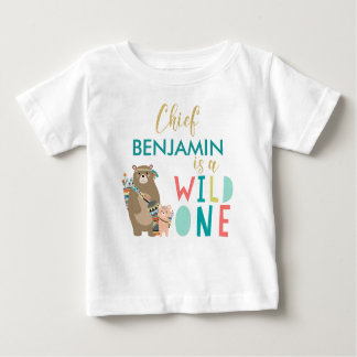 Tribal Bear Wild One 1st Birthday Shirt
