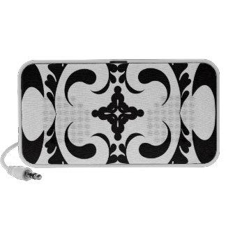Tribal black and white iPod speaker