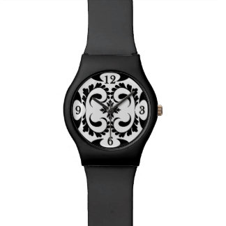 Tribal black and white watch
