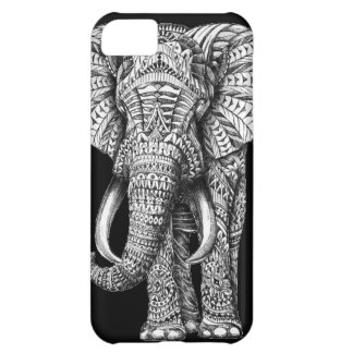 Tribal Black Elephant iPhone 5C Case