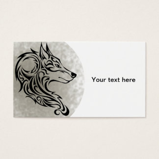 Tribal black Wolf 1 Business Card