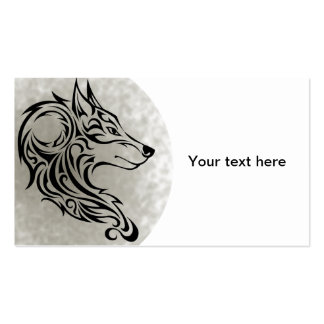 Tribal black Wolf 1 Pack Of Standard Business Cards