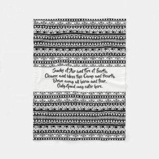 Tribal blessings fleece blanket