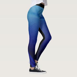 Tribal blue leggings