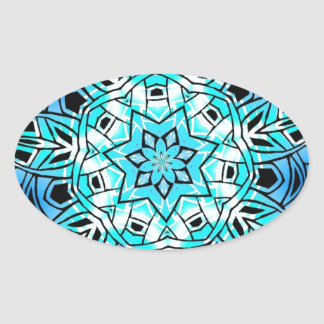Tribal blue oval sticker