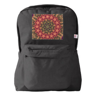TRIBAL BOHEMIAN KALEIDOSCOPIC GEOMETRIC MANDALA BACKPACK