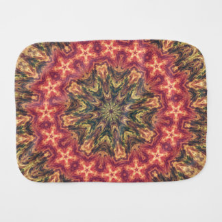 TRIBAL BOHEMIAN KALEIDOSCOPIC GEOMETRIC MANDALA BURP CLOTH