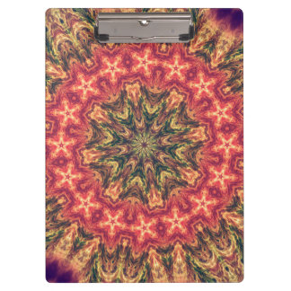 TRIBAL BOHEMIAN KALEIDOSCOPIC GEOMETRIC MANDALA CLIPBOARD