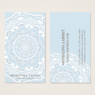 Tribal Bohemian Mandala Drawing Shabby Chic Blue Business Card