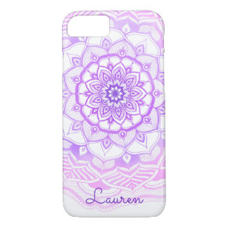 Tribal Bohemian Mandala Drawing Shabby Chic Purple iPhone 8/7 Case