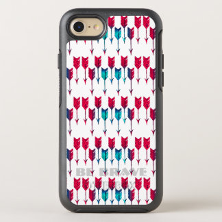 Tribal Boho Arrows Red Turquoise Feather Bohemian OtterBox Symmetry iPhone 8/7 Case