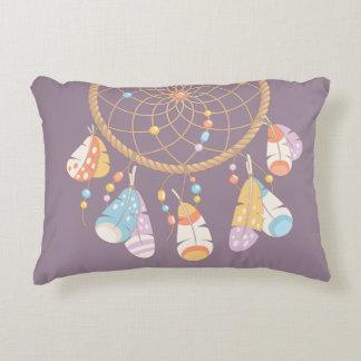 Tribal Boho Dreamcatcher on Purple Decorative Cushion