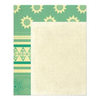tribal,boho,green,yellow,girly,cute,hipster,patter 11.5 cm x 14 cm flyer