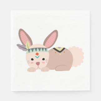 Tribal Bunny Napkin Disposable Serviettes