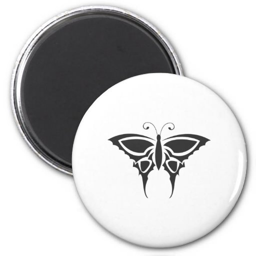 Tribal Butterfly Refrigerator Magnet