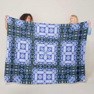 Tribal Camo Denim Plush Quilt Fleece Blanket