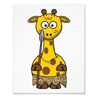 Tribal Cartoon Giraffe Photographic Print
