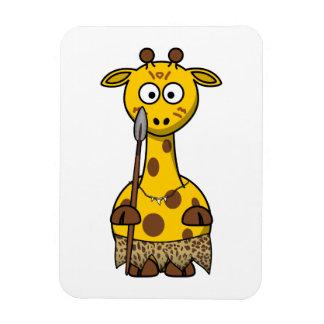 Tribal Cartoon Giraffe Rectangular Magnets