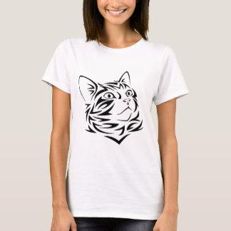 Tribal Cat Tattoo T-Shirt