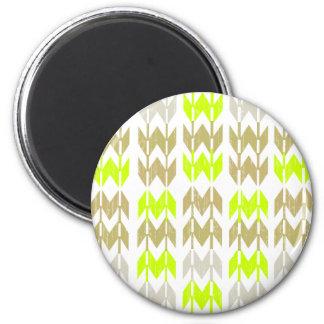 Tribal chevron geometric abstract neon pattern refrigerator magnet