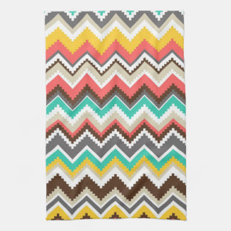 Tribal Chevron Tea Towel