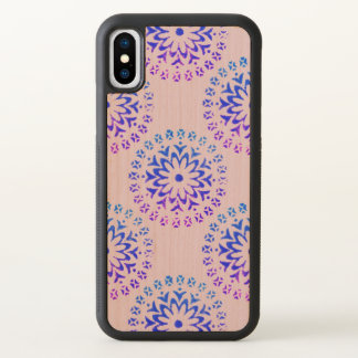 Tribal Circle Mandala Purple Ink iPhone X Case