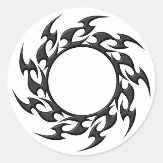 Tribal Circle Tattoo Round Sticker