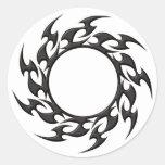 Tribal Circle Tattoo Round Stickers